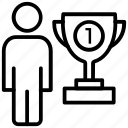 achievement, first place, success, trophy, winner icon
