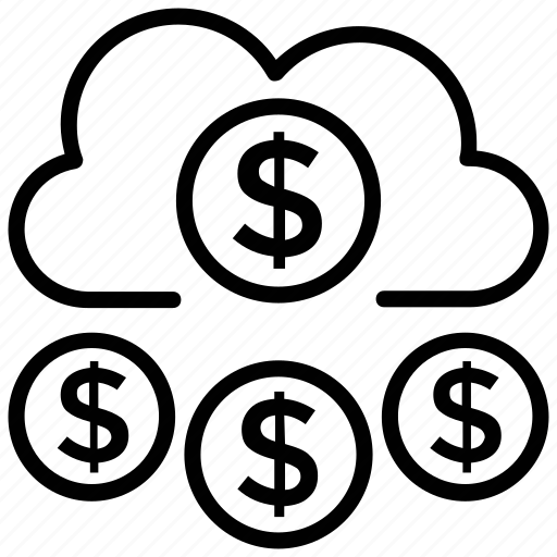 cloud computing, cloud dollar, cloud funding, funding platform, online funding icon