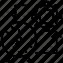 gear clock, mechanism emblem, production, time management, work schedule icon