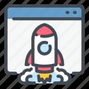 website, launch, rocket, web, spaceship
