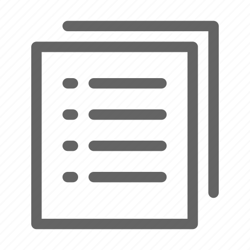 form, list, project, test icon
