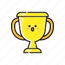 achievement, award, champion, medal, success, trophy, victory icon