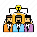 brainstorm, idea, meeting, partnership, team, teamwork, together icon