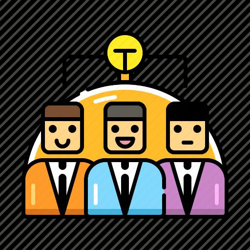 brainstorm, idea, meeting, partnership, team, teamwork, together icon