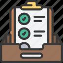 project, box, inbox, clipboard, task, list