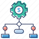 business network, financial interconnection, financial management, financial network, money network icon