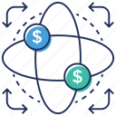 business model, business study, financial model, financial science, money infographic icon