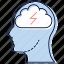 brain energy, brain power, creative brain, man power, will power icon