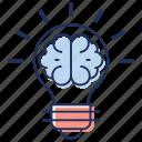 creative brain, innovative brain, innovative idea, innovative solution, innovative thinking icon