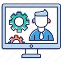 computer maintenance, computer setting, preference setting, software setting, system configuration, system maintenance icon
