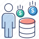 coin stack, financial investment, investment, investor, money saving icon