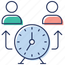 daily deadline, daily performance, efficiency, success time, time management, work time icon