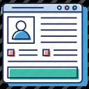company profile, computer reference profile, corporate network profile, ncrp, networking profile icon