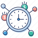 business time, financial network, money network, time is money, trade time icon