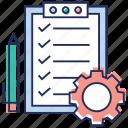 agenda list, checklist, list management, list setting, product list, shopping list, todo list icon