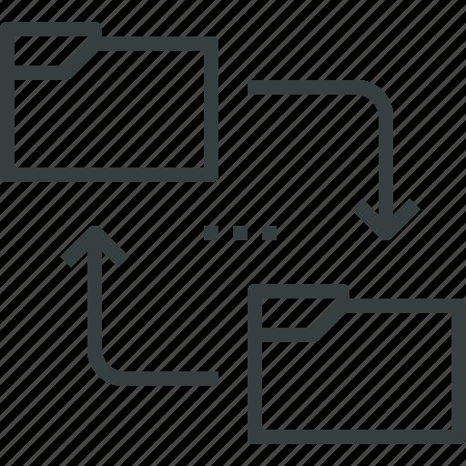 data, exchange, files, folders, network, sharing, sync icon