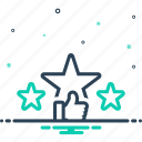 favorite, feedback, ranking, rating, review, star, valuation icon