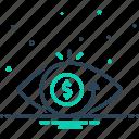 eye, eyesight, optics, perception, sight, view, vision icon