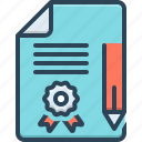 agreement, contract, documents, justice, legal, legal documents, pleadings icon