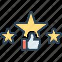 favorite, feedback, ranking, rating, satisfaction, star, valuation