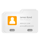 contact, james bond, vcard icon