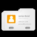 contact, james bond, vcard icon