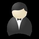 buttler, smoking, user icon