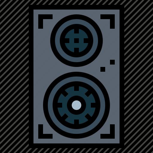 audio, loudspeaker, sound, speakers icon