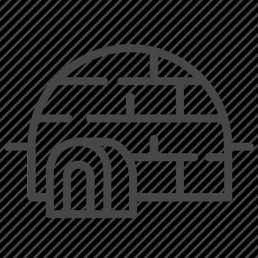 accommodation, eskimo house, house, igloo, property, residence icon