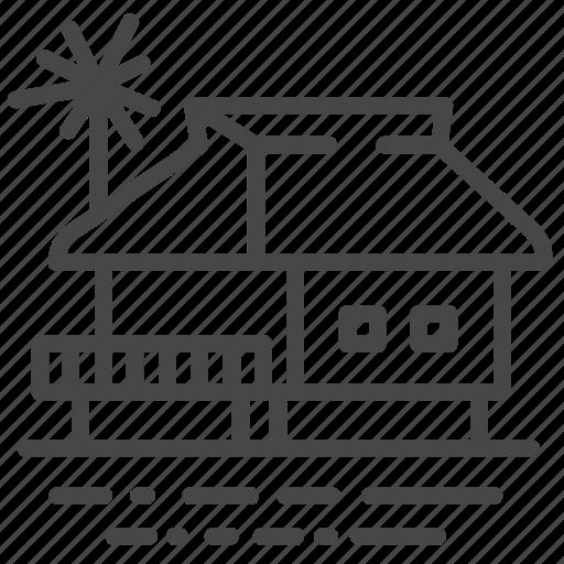 Accommodation, house, maldives, property, residence, resort, villa icon - Download on Iconfinder