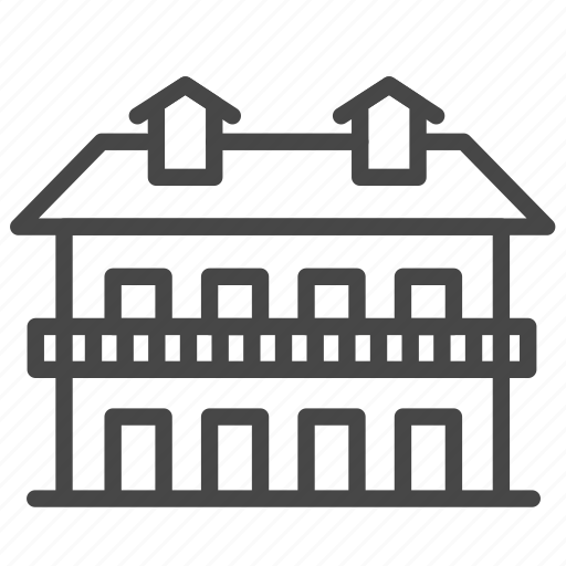 Accommodation, apartment, guesthouse, house, motel, property, residence icon - Download on Iconfinder