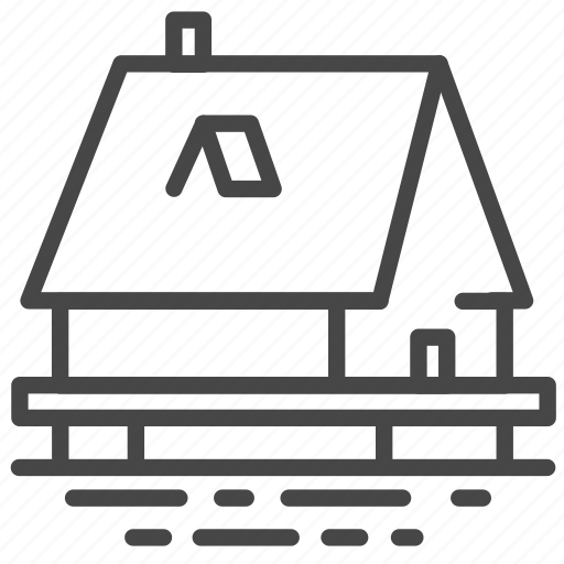 Accommodation, boat house, house, lake house, property, residence icon - Download on Iconfinder