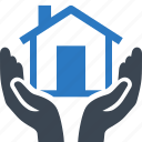 building, home insurance, home protection, house, safe icon