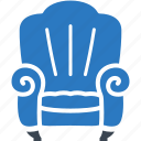 armchair, furniture, sofa icon