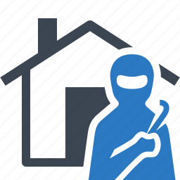 burglary, home insurance, house, theft, thief, vandalism icon