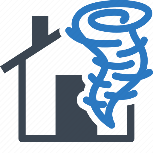 home insurance, house, hurricane, tornado, windstorm icon