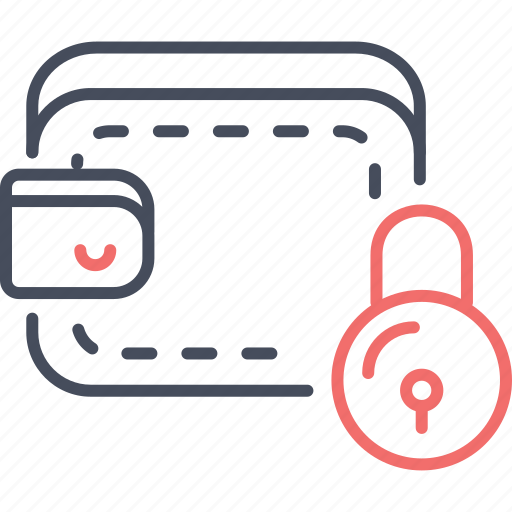 assets, lock, payment, privacy, protection, wallet icon