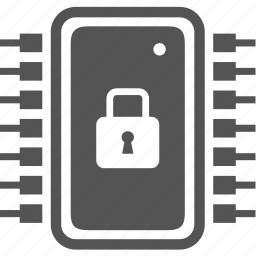 electronics, lock, protect, security icon