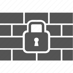 lock, protect, security, wall icon