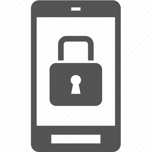 lock, phone, protect, security, telephone icon