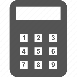 calculator, lock, protect, security icon