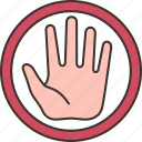 stop, warning, prohibited, danger, caution