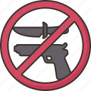 weapon, prohibited, banned, restriction, violence