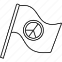 flag, peace, antiwar, support, banner