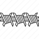 wire, barbed, fence, defense, security