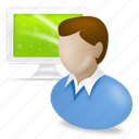 account, administrator, business, ecommerce, human, male, people, person, user, users icon