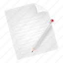 document, edit, page, paper, text icon