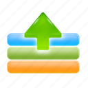 arrow, export, out, save, up icon