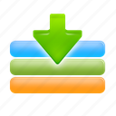 arrow, down, download, import icon