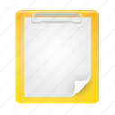 board, clip, clipboard, document, documents, paste icon
